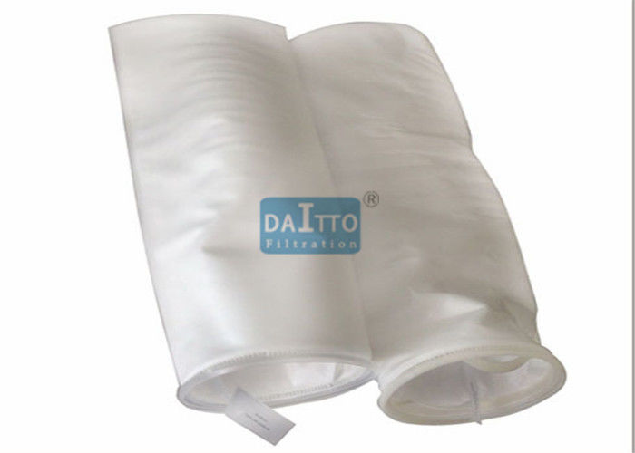Removing Gels Polypropylene Filter Bags , High Efficiency Filter Bags Graded Pore Structure