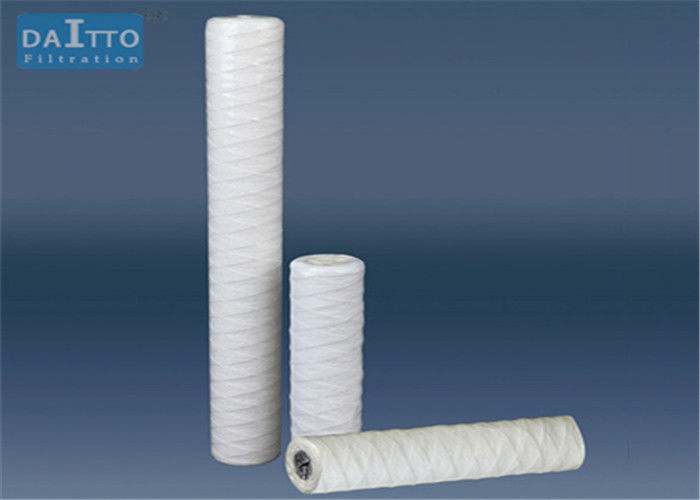 Bleached Cotton String Wound Filter Cartridge , Glass Fiber Pre Filter Cartridge