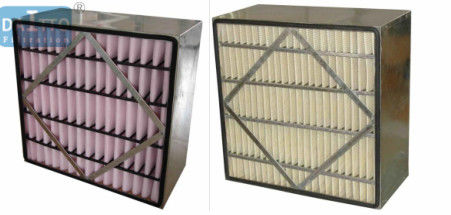 Medium Box High Flow Panel Filter Polyurethane Sealing Aluminum Frame